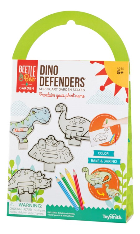 Dino Defenders Color, Bake and Shrink Activity Kit
