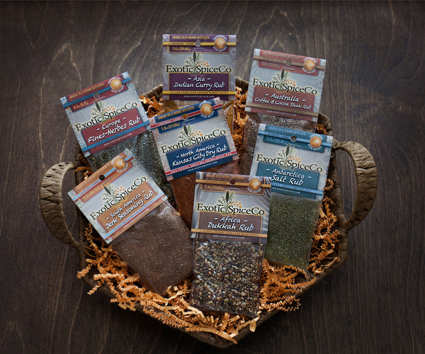 ESCo: Seven Continents Spice Rubs Gift Set of 7
