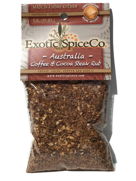 Australia-Coffee & Cocoa Steak Rub 1.8 oz (51.03g)