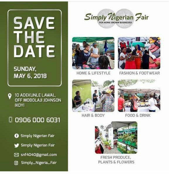 Simple Nigeria Fair Save The Date May 6, 2018