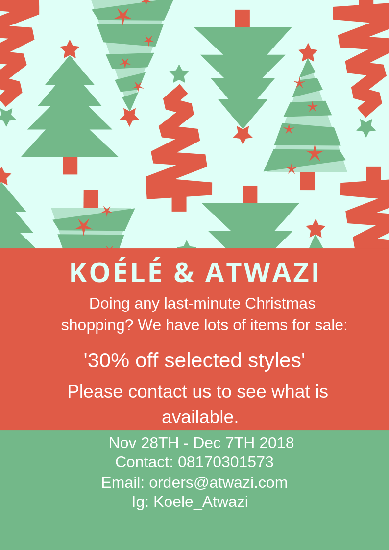 Koélé and Atwazi Christmas Sales.