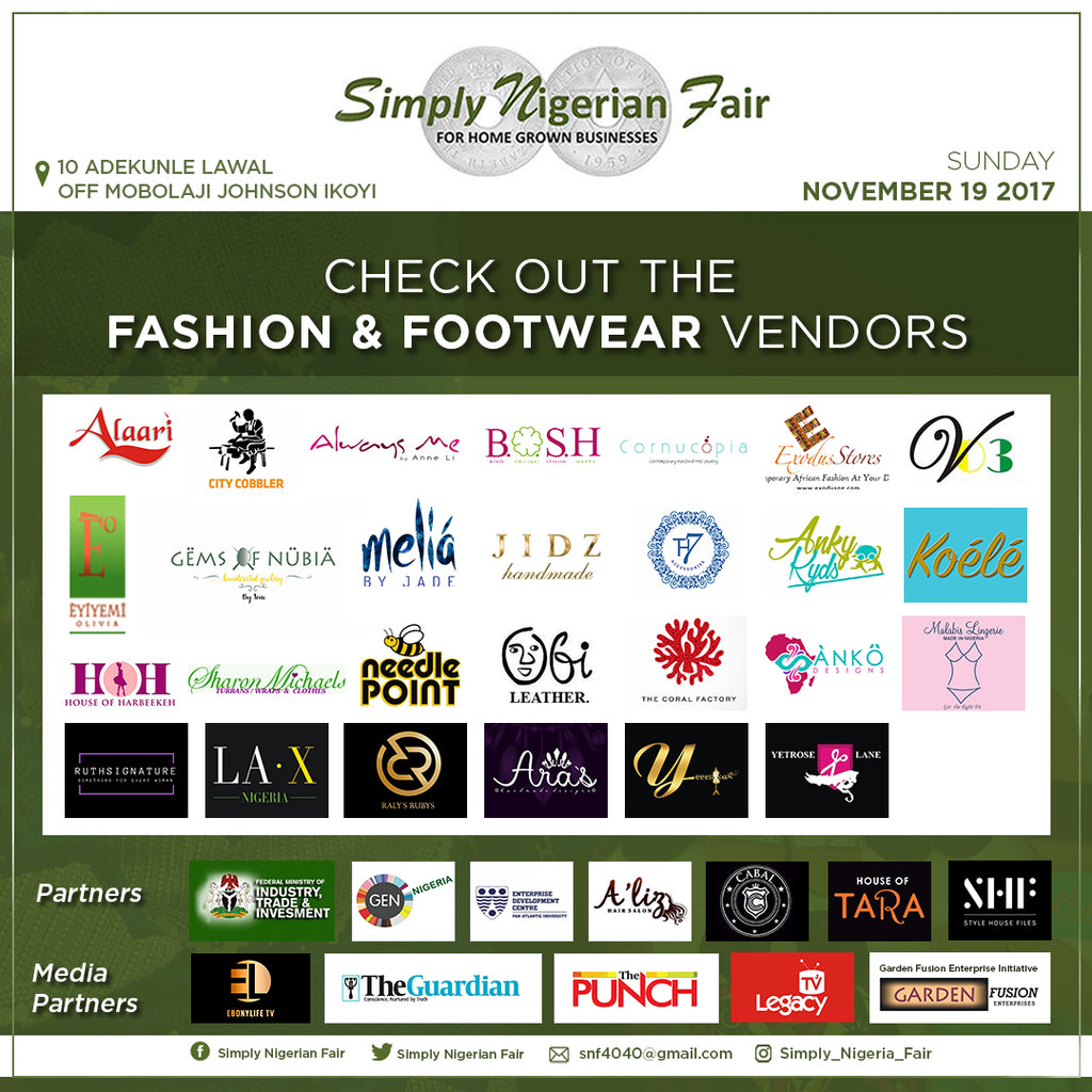 SAVE THE DATE... WE WILL BE SELLING OUR SLIPPERS AND BAGS AT THE SIMPLY NIGERIA FAIR! PLEASE JOIN US AND BRING YOUR FAMILY AND FRIENDS..