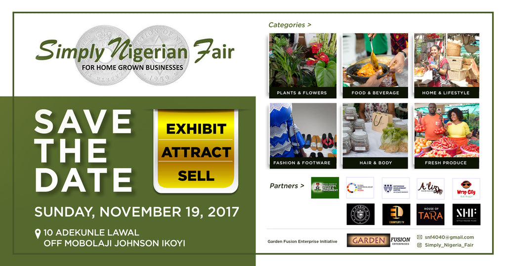 SIMPLY NIGERIAN FAIR SAVE THE DATE.