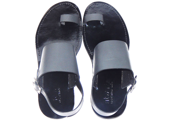 BOLD TOEHOLD SANDALS (GREY/BLACK)