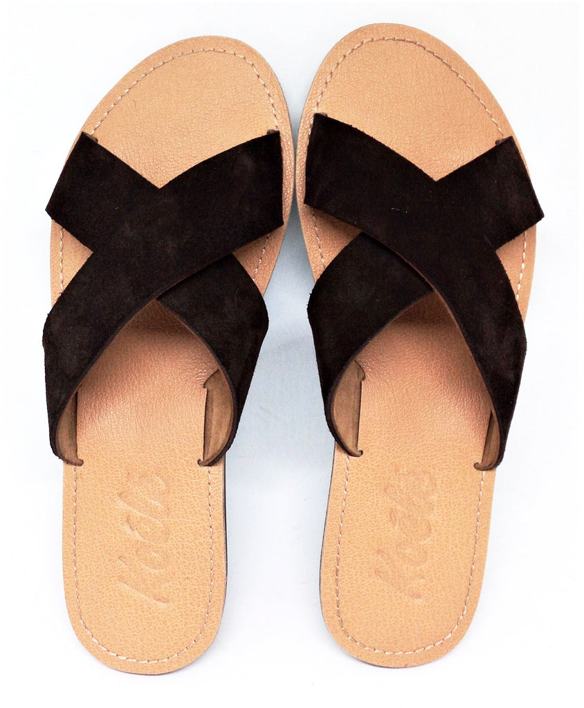 CROSS (DARK BROWN SUEDE/TAN)