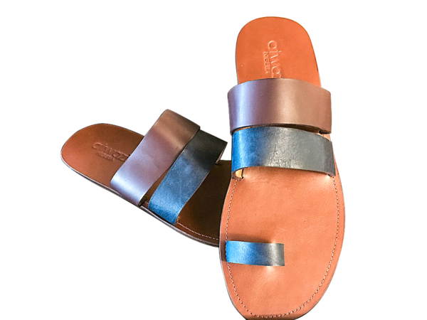 DOUBLE STRAP TOEHOLD (NAVY_WINE/TAN)
