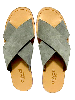 DOUBLE-CROSS (GREY SUEDE/TAN)