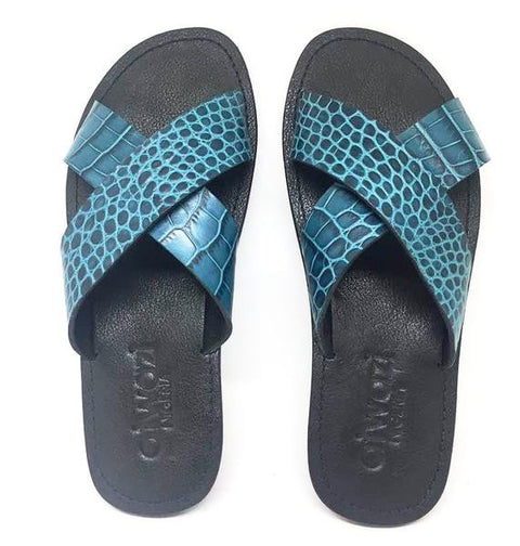 CROSS (BLUE CROC/BLACK)