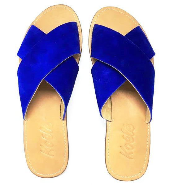 YVONNE (BLUE SUEDE/TAN)