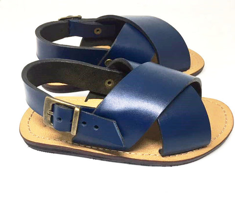 YVONNE KIDS SANDALS (BLUE/TAN)