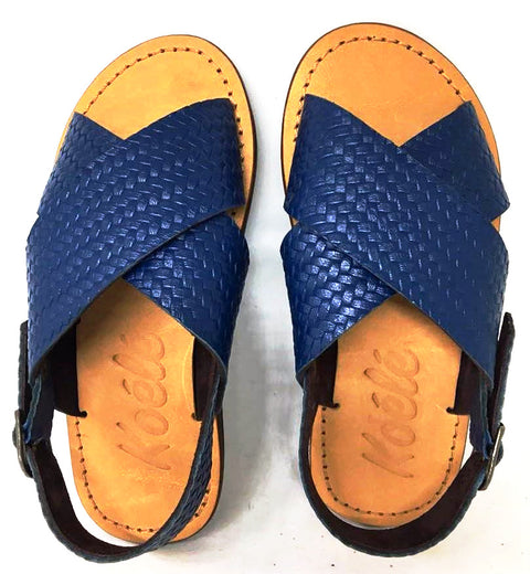 YVONNE KIDS SANDALS (WOVEN BLUE/TAN)