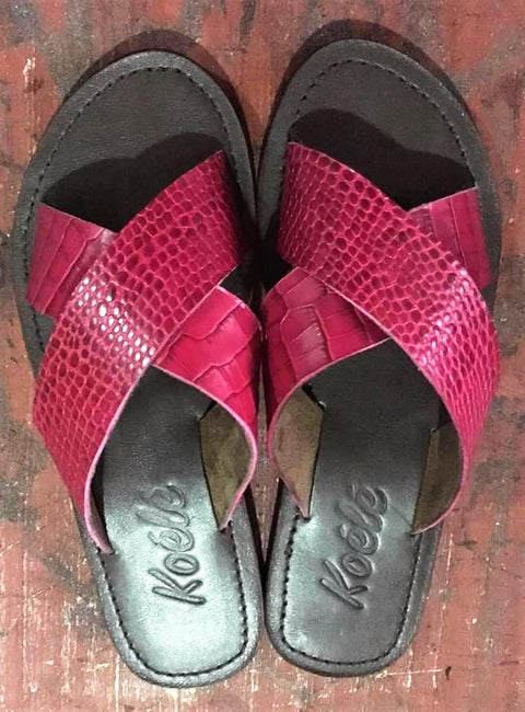 CROSS (PINK CROC/CHOC)