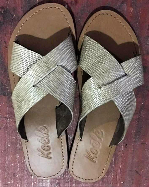 NADYA (GOLD CROC/TAN)