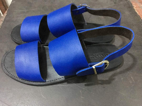 DOUBLE-UP SANDALS (BLUE/BLACK)