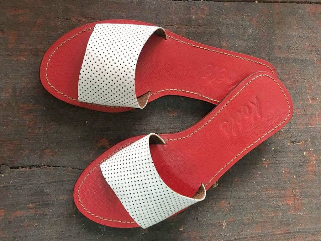SHAMINA (WHITE PERFORATED/RED)