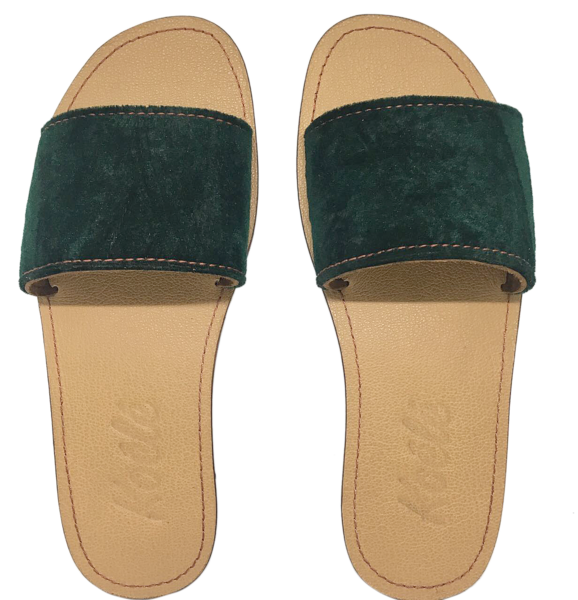 TRICIA (FOREST GREEN SUEDE/TAN)