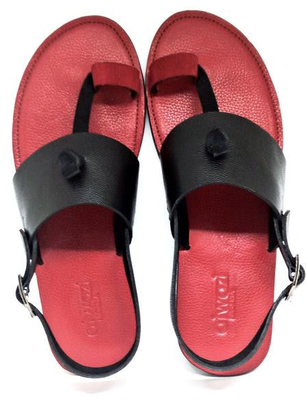 BRIDGE TOEHOLD SANDALS (RED_BLACK/RED)