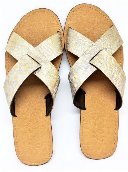 NADYA (CROC GOLD/TAN)