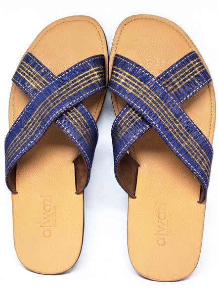 CROSS (BLUE ASO OKE/TAN)