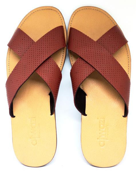 CROSS (PERFORATED BROWN/TAN)