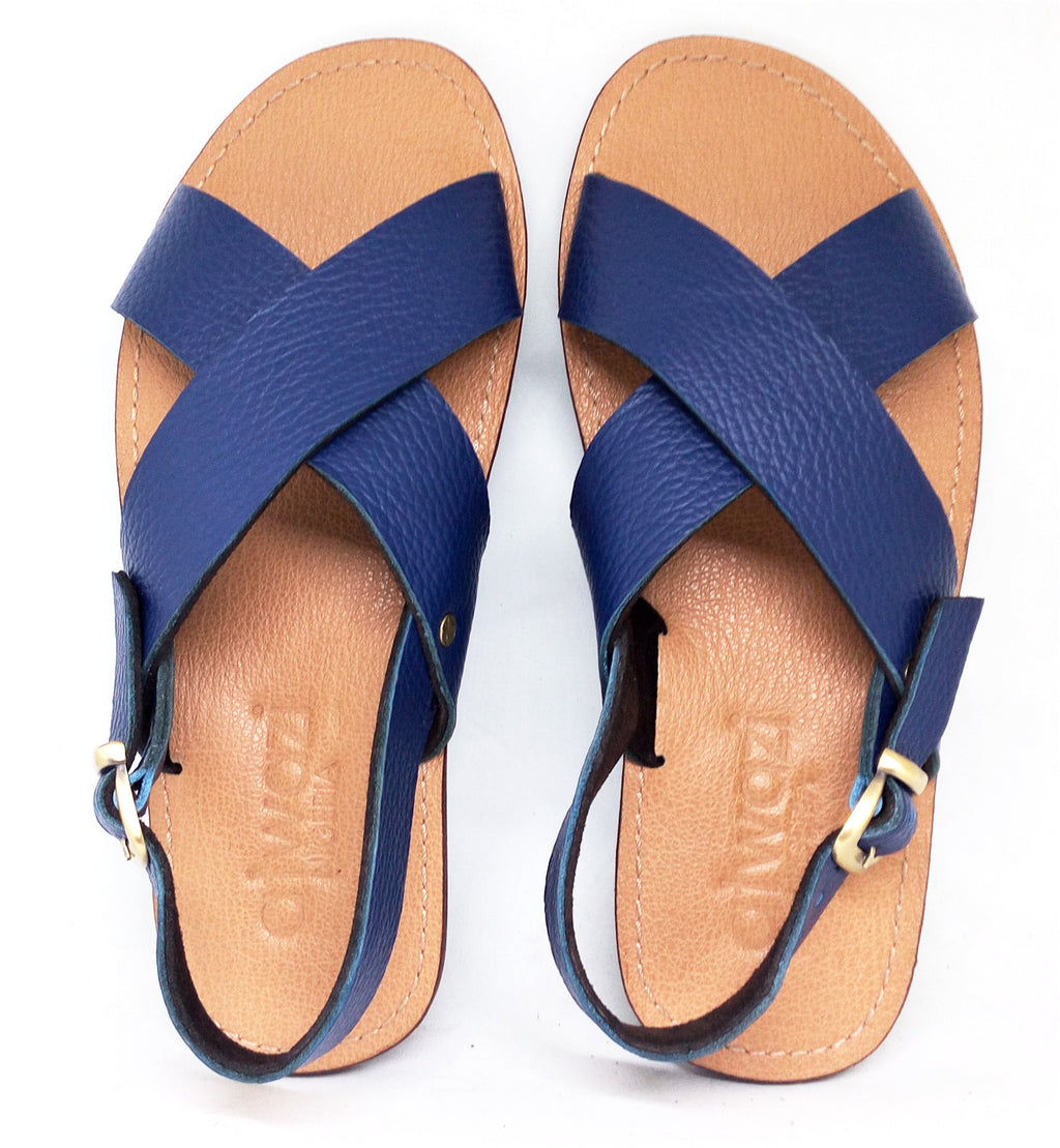 CROSS KIDS SANDALS (BLUE/TAN)