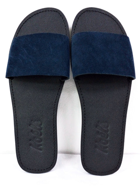 TRICIA (NAVY BLUE SUEDE/BLACK)