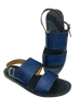 DOUBLE-UP SANDALS (NAVY BLUE/BLACK)