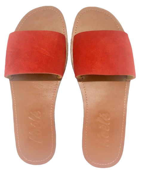 TRICIA (RED SUEDE/TAN)