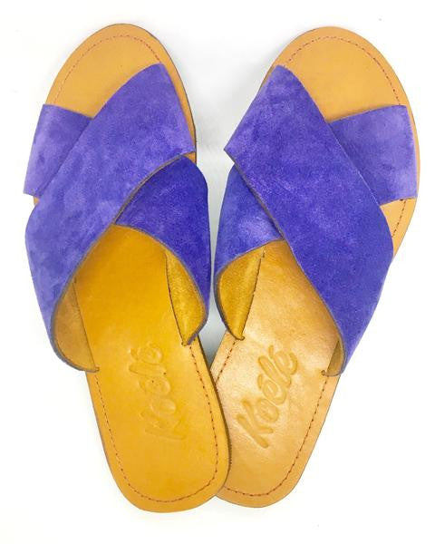 YVONNE (PURPLE SUEDE/TAN)
