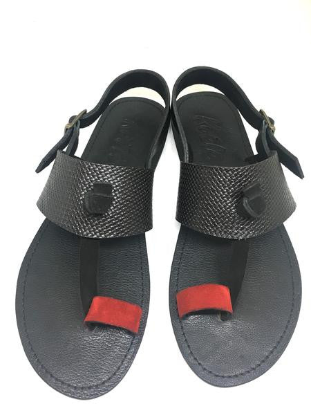 LULU SANDALS (RED_BLACK/BLACK)