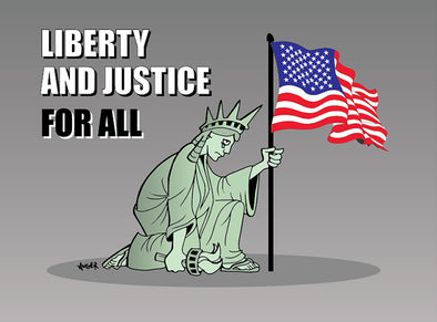 Liberty and Justice For All Sticker
