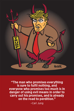 Devil Trump Postcard