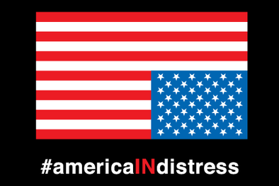 #AmericaINdistress Bumper Sicker