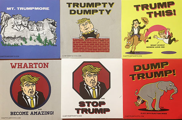 Dump Trump Stickers (3 Pack)