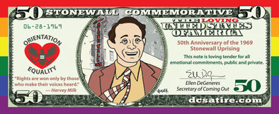 Harvey Milk $50 Pride Bill