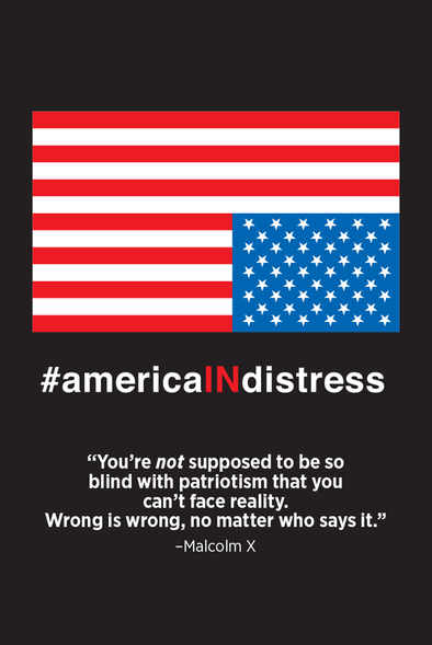 #AmericaINdistress Postcard