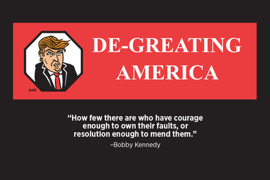 De-Greating America Postcard