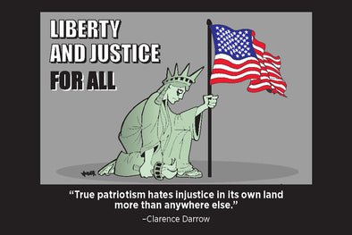 Kneeling Liberty Postcard