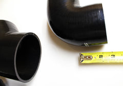 KS Tuned Black Silicone 45* Elbow Coupler 3.00""