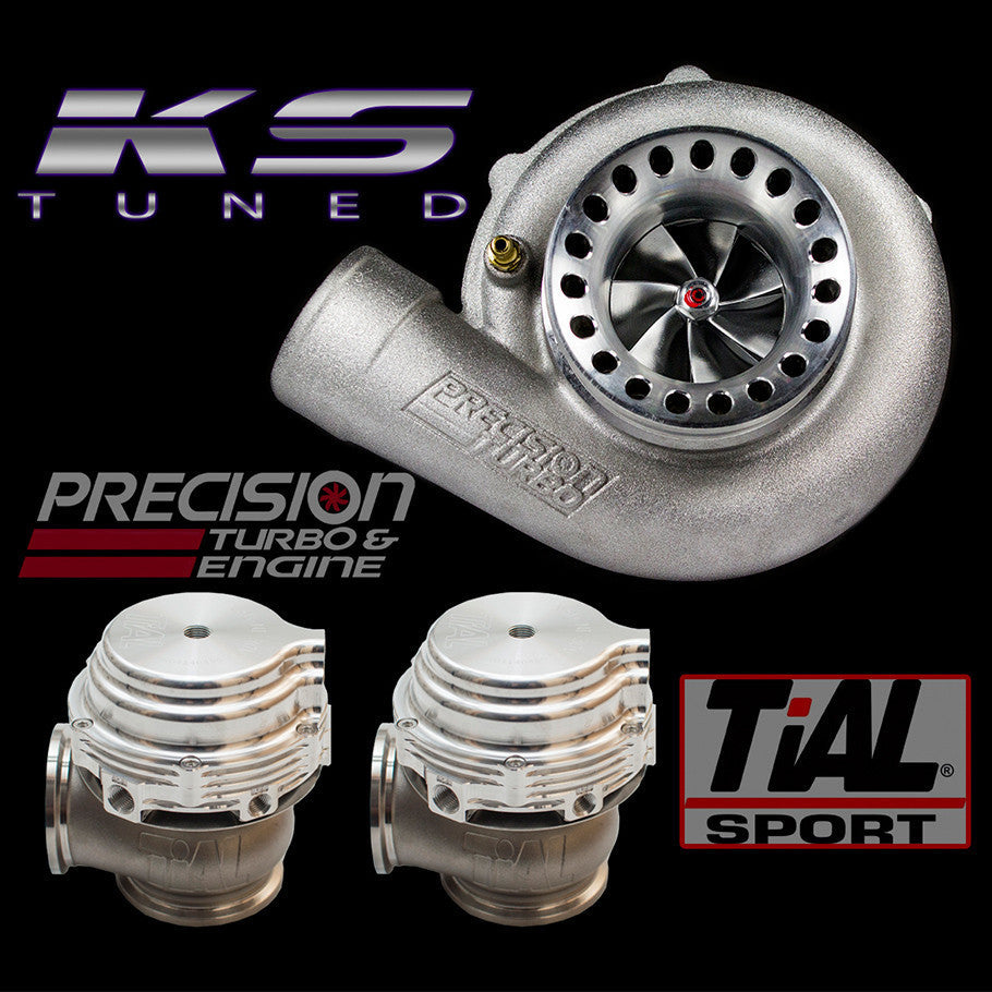 Precision Turbo Gen 2 6266 T4 Divided with 2 Tial 44mm Wastegate