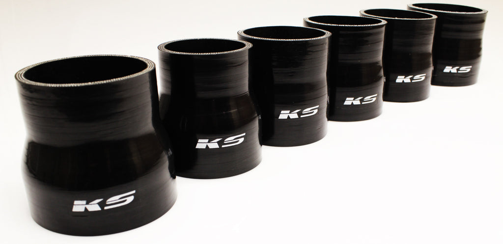 "KS Tuned Black Silicone Reducer Coupler 3.25""-3.00"""