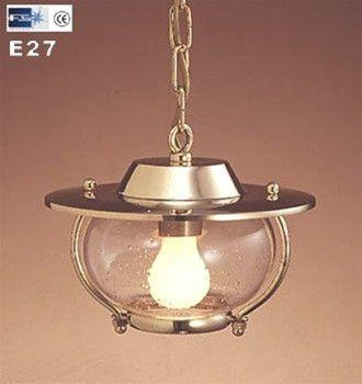A top quality Brass Garden Hanging Light made in Italy by Foresti & Suardi.