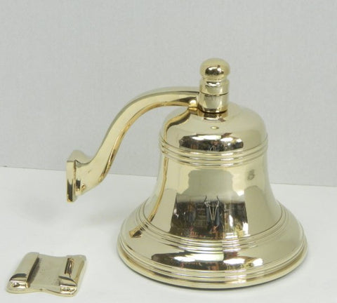 "Beautiful, High Quality, Bronze Bell. 7"" diameter, 7"" height, weight 8 lbs."
