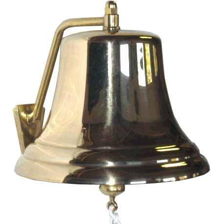 "Brass Bells - 12"" Brass Certified Ship's Bell W/removable Bracket 12000"
