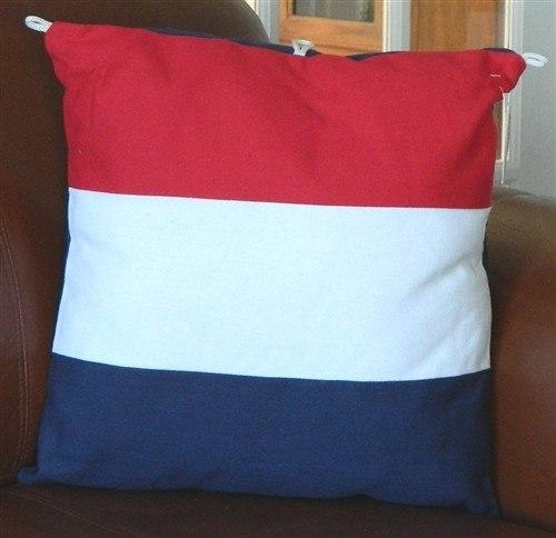 Nautical Decor - 1411 Nautical Pillow, Red, White, And Blue.