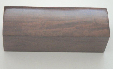 1616 - 3 Draw Brass Telescope w/brown leather cover.