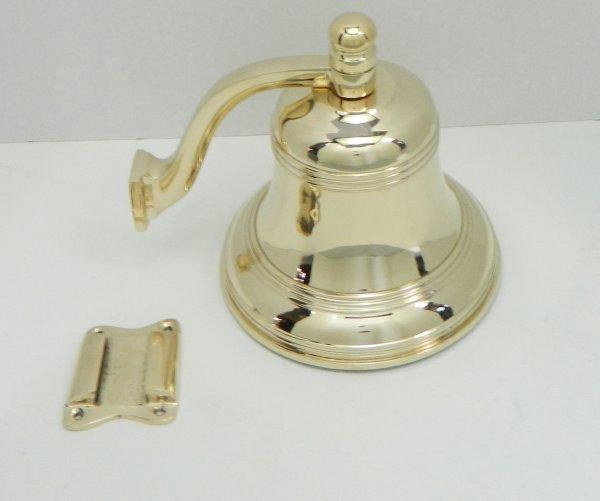 "7"" heavy cast Bronze Bell w/ removable bracket."