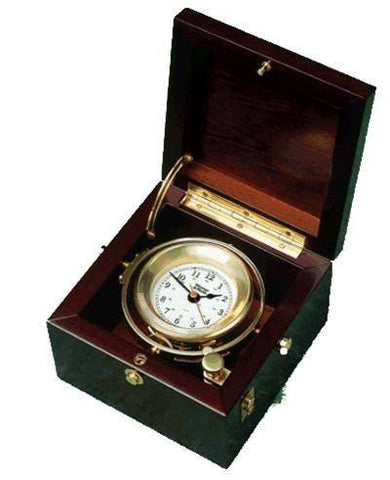 Nautical Gifts, Retirement Gifts - 701100 Gimbal Box Clock From Weems & Plath