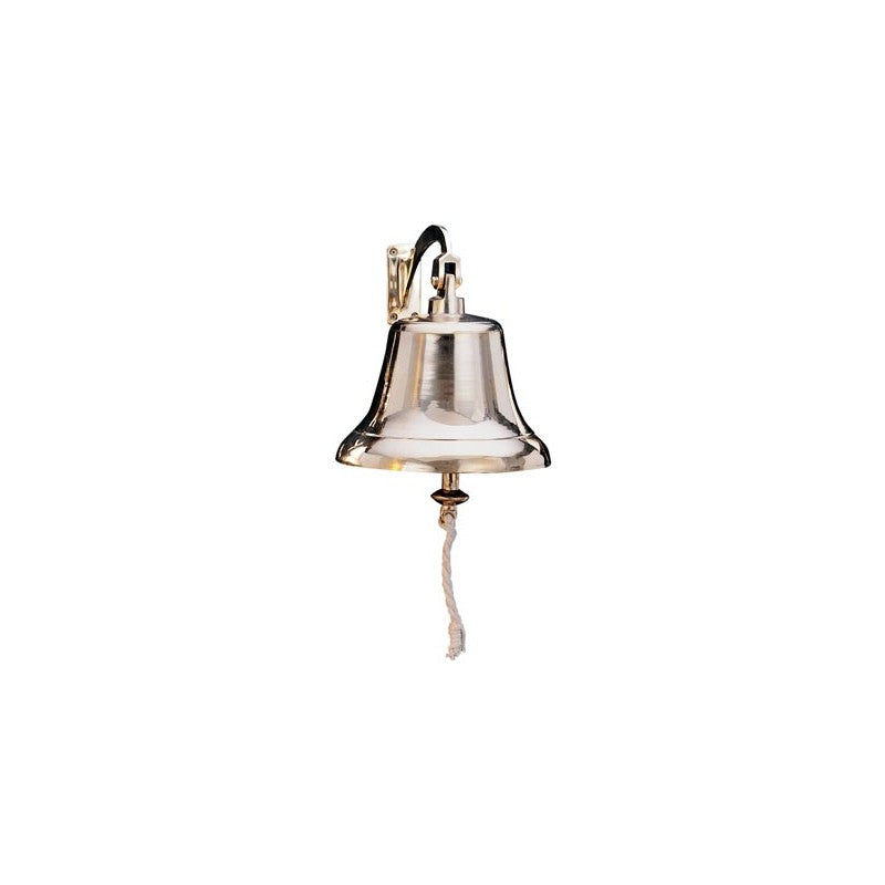 "HW 1011 - 8"" Large Brass Bell w/bracket"