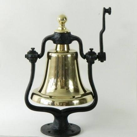 Large Brass Bells - Brass Victory Bell on Stand   HW-2011